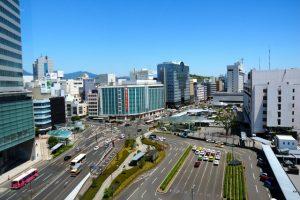 静岡市街地の遠景写真