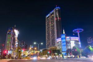 文京区水道橋の夜景画像
