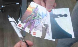 なか卯のキャンペーンで入手したエヴァンゲリオンのカード